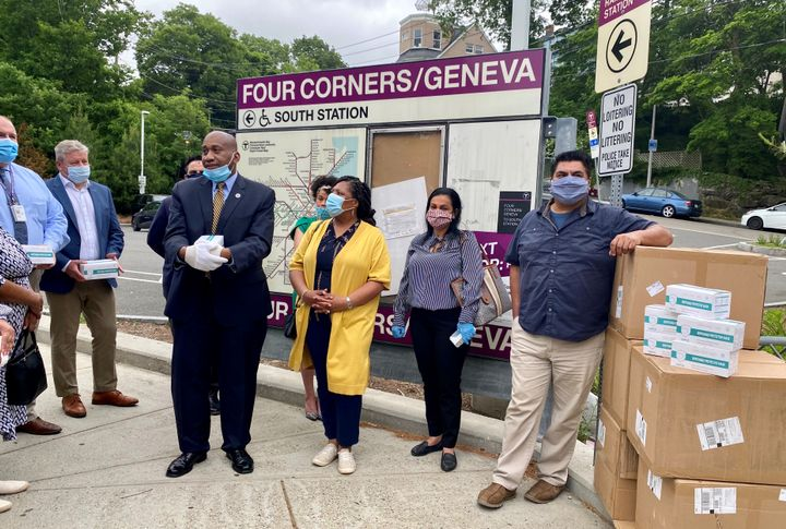 Local officials in each community will determine the best use of the face masks donated by Keolis, including schools, community centers, and other local needs. - Keolis