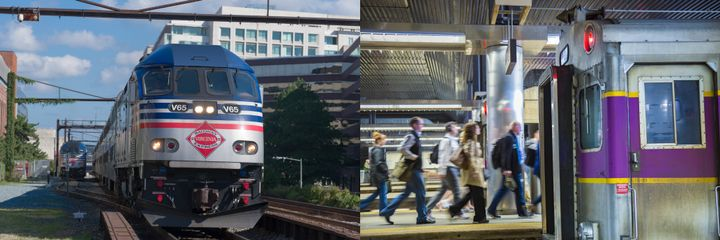 Keolis Commuter Services has been the MBTA's contracted commuter rail operating partner since July 2014, and the VRE's since 2010. - VRE courtesy of George Tenney/MBTA courtesy of Keolis Commuter Services