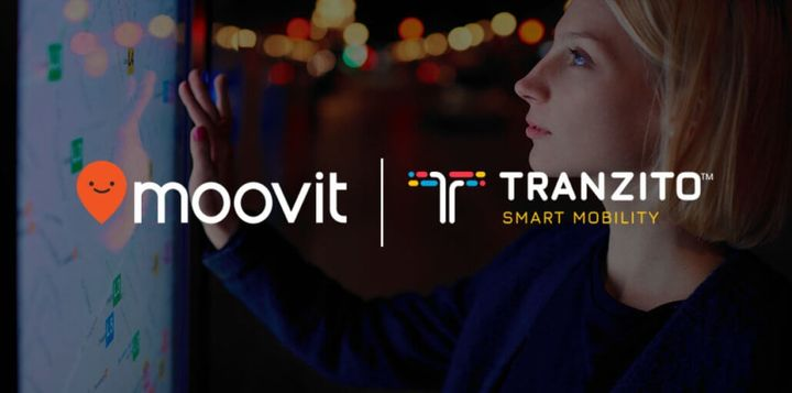 Universal transit information is displayed to anyone, while registered Tranzito users can access their personal account to book rides without having to use a smartphone. - Tranzito/Moovit