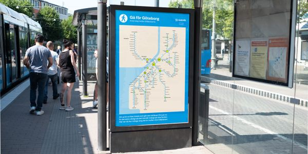 The map, with the number of steps between stops added, is a simple reminder that distances are...