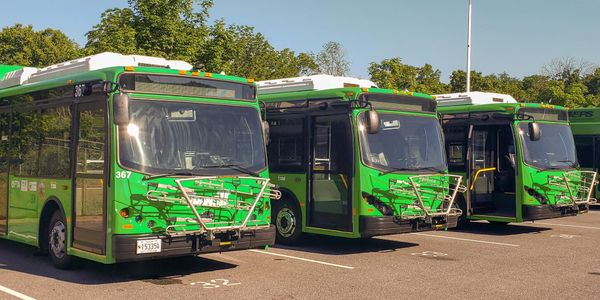 The three new BYD buses join a BYD K7M delivered to TransIT in the fall of 2019.