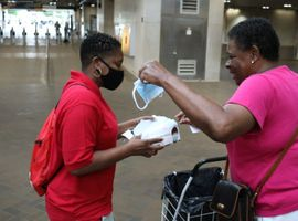MARTA will deploy staff and volunteers to hand out as many as two million disposable masks at its rail stations and bus bays.