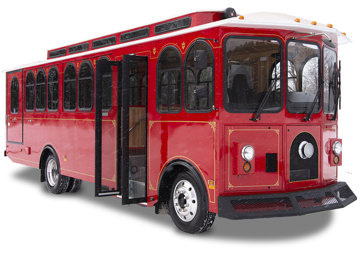 Motiv supplied its Ford eQVM approved EPIC F-53 chassis and worked with Hometown Trolley, who designed and built the custom body. - Motiv