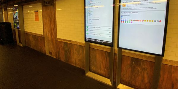 The screens provide important real-time service information for customers while generating...