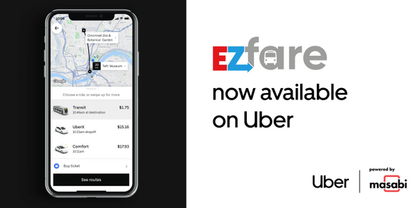 EZfare Ticketing Launches with Journey Planning in Uber App