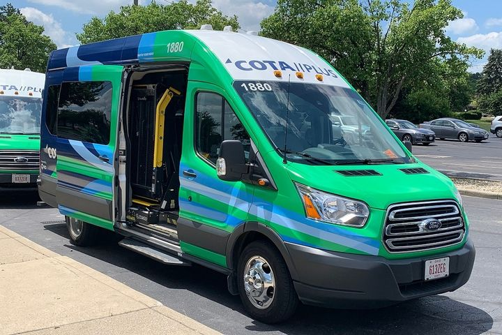 COTA//Plus is an app-based rideshare that operates either as a point-to-point service or as a connection to or from a COTA transit line. - COTA