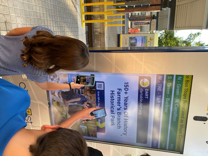 The system upgrade makes the DART information contactless and viewable from mobile devices through embedded QR code activation. - DART