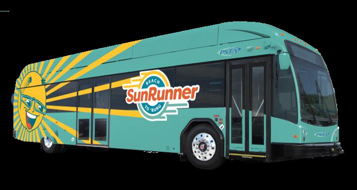 - Mockup of bus courtesy PSTA
