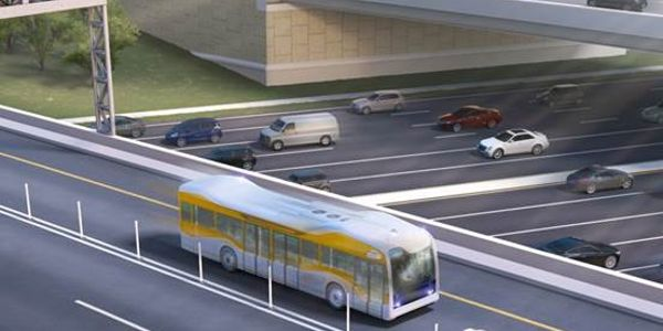 Rendering courtesy of AECOM. Depiction of full-sized, full-speed bus.