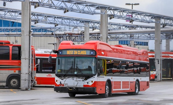 BYD Delivers 10 Electric Buses to TTC