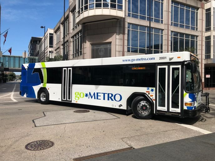 Each bus features rider-requested amenities like Wi-Fi, convenient on-board charging ports for electronic devices, and new vinyl seats offering a more secure seating position for passengers. - Cincinnati Metro
