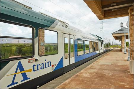 DCTA Installs Counters along A-train Rail Trail