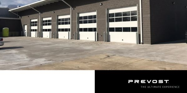 One of 19 Prevost service centers in North America, the facility is located approximately nine...