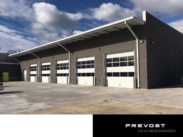 One of 19 Prevost service centers in North America, the facility is located approximately nine miles outside of the D.C. area. - Prevost