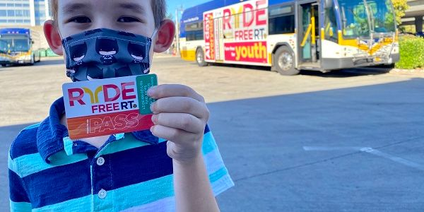 The RydeFreeRT program, which waives student and youth fares on bus, light rail, and SmaRT Ride...