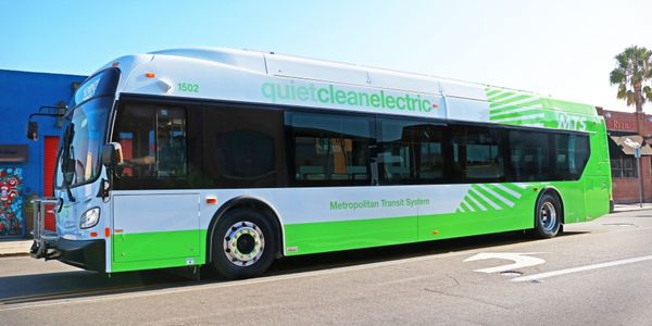 MTS currently has six electric buses operating out of its divisions in downtown San Diego and...