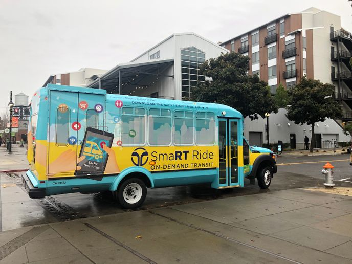 According to data provided by public mobility company Via, whose technology powers SacRT's SmaRT Ride app, the service has grown by an average of almost 4% per week in the past two weeks. - SacRT/Via