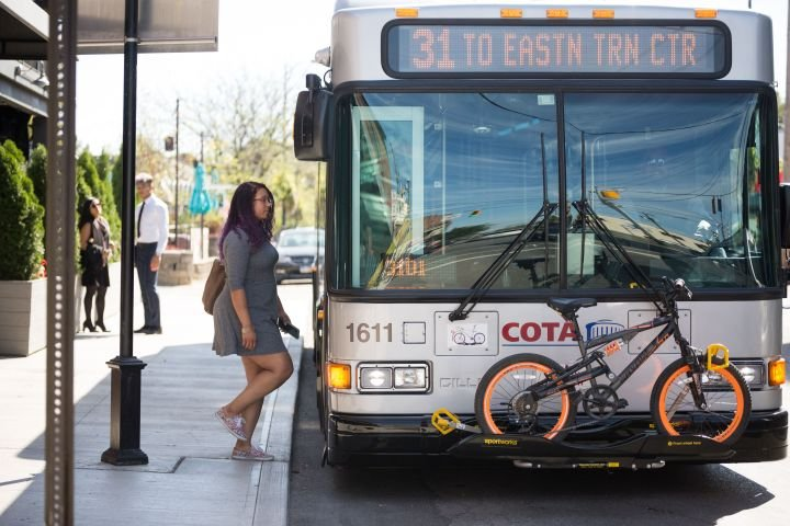 To ensure social distancing, COTA On-Demand transit vehicles are limited to 10 customers, while larger fixed-route vehicles are limited to 20 customers. - COTA