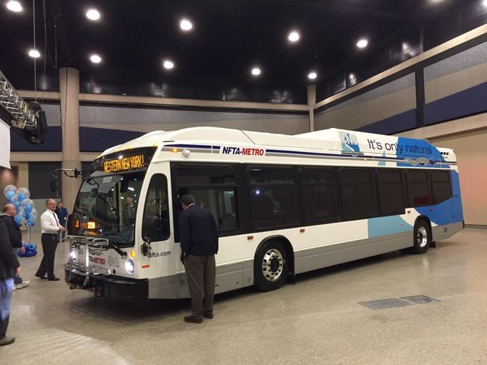 NFTA-Metro is encouraging the Buffalo-Niagara region's combined 1.3 million citizens to plan their transit trips, and pay for them too, using the free Moovit app. - NFTA
