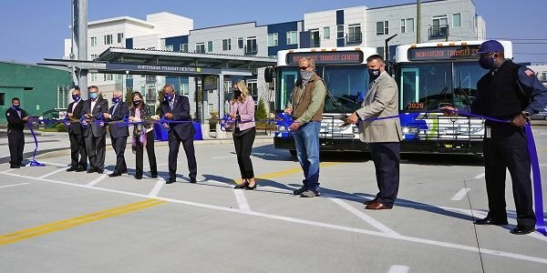 The agency held a ribbon-cutting ceremony for its new Northside Transit Center on Oct. 6. The...