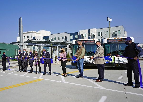 The agency held a ribbon-cutting ceremony for its new Northside Transit Center on Oct. 6. The center will service eight routes. - Cincinnati Metro