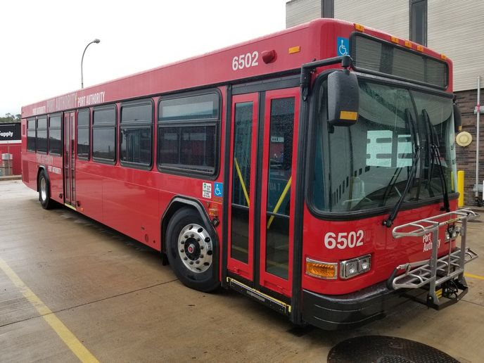 The 54 40-foot GILLIG buses are equipped with new amenities. - Port Authority of Allegheny County