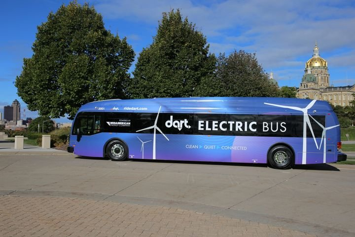 Electric bus manufacturer, Proterra, said the transition to battery-electric buses presents multiple benefits to Greater Des Moines. - Proterra