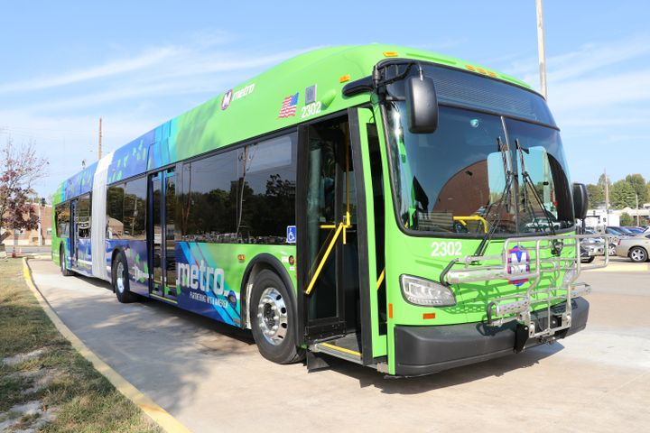 The battery-electric bus program builds on the commitment of Ameren Missouri and Metro Transit to continually find innovative ways to reduce greenhouse gas emissions. - St. Louis Metro