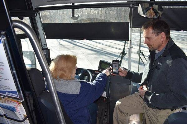 Riders using SARTA's EZfare mobile ticketing app gave the system positive reviews, citing safer rides during the COVID-19 pandemic. - Laketran