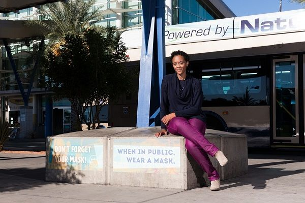 The collaboration between the RTC of Southern Nevada and local artist Ashley Hairston Doughty was made possible by Smart Growth America's Arts and Transportation Rapid Response initiative. - Mikayla Whitmore