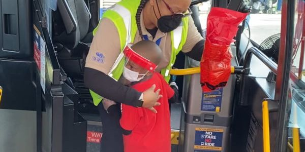 Five-year-old Justyn Boumah, a renowned author and chef, came up with the idea of thanking bus...