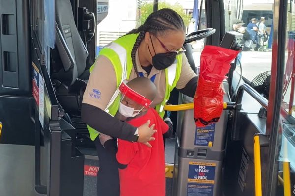 Five-year-old Justyn Boumah, a renowned author and chef, came up with the idea of thanking bus drivers with care packages he created himself. - RTC of Southern Nevada