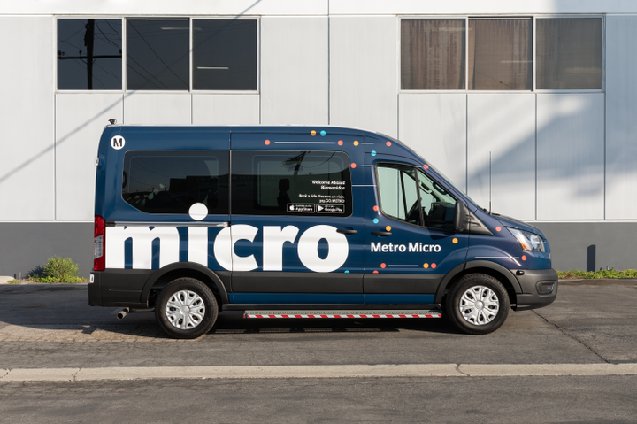 Metro Micro is an on-demand shared ride service using vans for short trips within designated service zones in Los Angeles County. - LA Metro