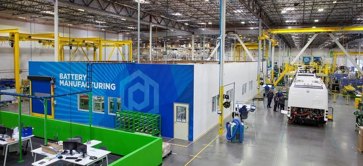 The batteries manufactured at the City of Industry facility will feature Proterra's redesigned modules with next-generation cells developed with LG Energy Solutions.  - Proterra