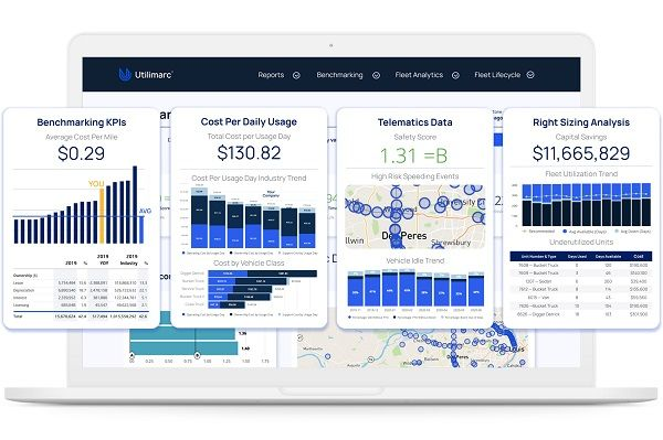 Utilimarc's fully-integrated business intelligence platform syncs with users' data sources and provides real-time information with a picture of how their fleets are performing. - Utilimarc