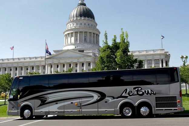 Le Bus has over 120 charter buses, servicing Utah and Wyoming. - LeBus/IMG