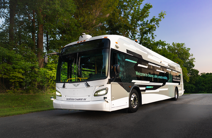 The Xcelsior AV™ furthers the FTA Strategic Transit Automation Research Plan to assess potential risks, barriers, and mitigation strategies associated with the implementation of automation technologies in transit buses. - New Flyer