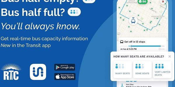 When users tap their route line in the Transit app, they see a map showing the live locations of...