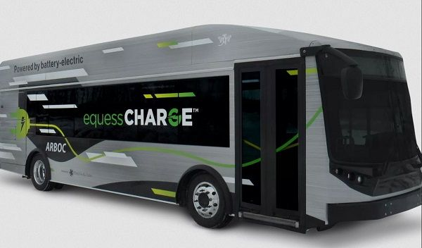 Available in 30-foot and 35-foot models, the Equess CHARGE builds on ARBOC's Equess transit bus platform and New Flyer's EV technology. - ARBOC