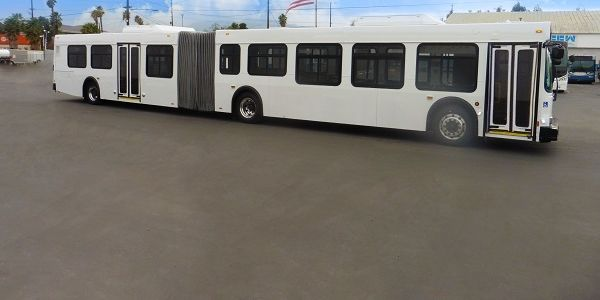 The 60-foot articulated vehicles will provide more space for riders and allow for greater social...