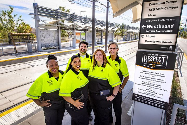 Transit workers are employed by Valley Metro, city of Phoenix, and a dozen contracted firms, including First Transit, Transdev, Alternate Concepts Inc., Allied Universal, and DMS Facility Services, to name a few. - Valley Metro