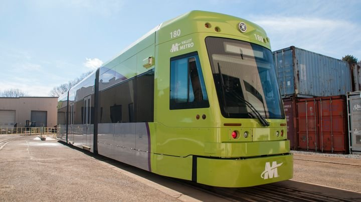 The 72-foot-long vehicles are delivering as part of a $33-million contract for the design, build, and test of six streetcar vehicles for the three-mile system. - Brookville