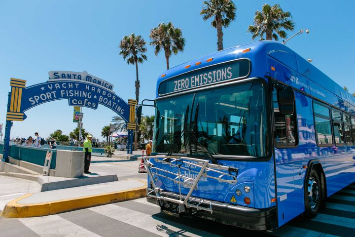 Big Blue Bus is committed to providing an informative and easy-to-use service, and its partnership with Transit provides passengers with the tools they need to practice safe physical distancing. - Big Blue Bus