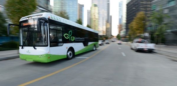 Theinvestment is expected to create more jobs in Canada'selectric vehicle manufacturing sector. Shown here is an electricbus from Canadian-based manufacturer GreenPower Motor Co. in Vancouver, Canada. - GreenPower Motor Co.