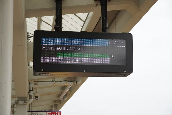 Changes to digital screens, station announcements, and the LIRR's Train Time app will detail real-time seat availability for approaching trains by a customer's location. - LIRR