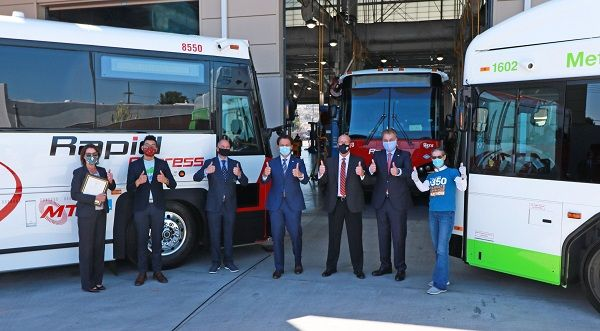 At the same time as retiring itsdiesel fleet, San Diego MTS is also added twoGILLIG zero-emission battery electricbuses, upping the agency's total to eight. - San Diego MTS