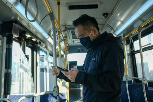 Phase one of the pilot began in November 2020 as part of TransLink's COVID-19 response. The trial lasted five weeks on two buses and two SkyTrain cars. - TransLink