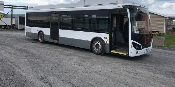 Shown here is a 35-foot Vicinity CNG bus.