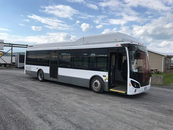 Shown here is a 35-foot Vicinity CNG bus. - Vicinity