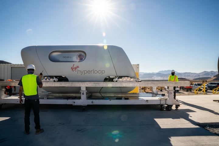 By combining an electric motor, magnetic levitation, and a low-drag environment, hyperloop systems can carry more people than a subway, at airline speeds, and with zero direct emissions. - Virgin Hyperloop